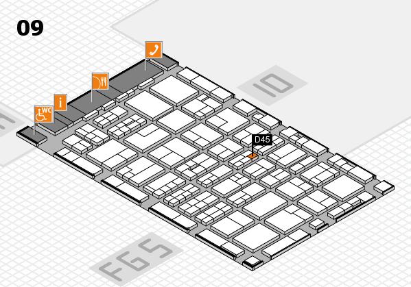 MEDICA 2016 hall map (Hall 9): stand D45