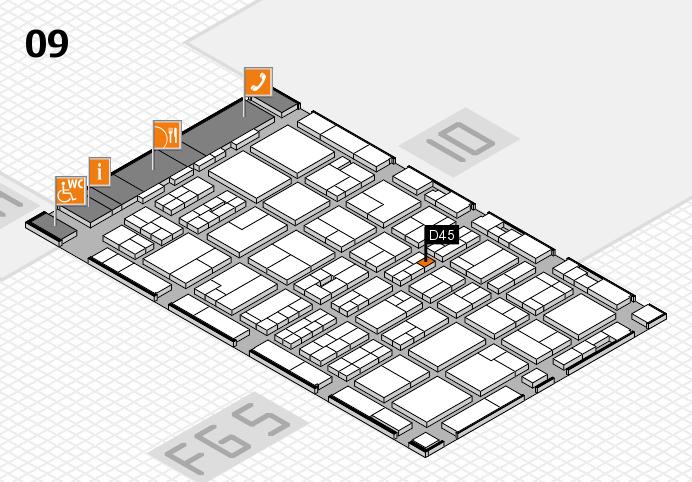 MEDICA 2016 Hallenplan (Halle 9): Stand D45