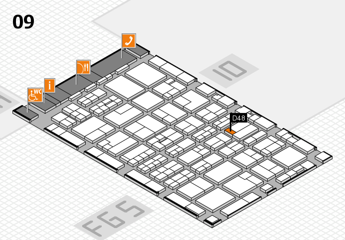 MEDICA 2016 hall map (Hall 9): stand D48