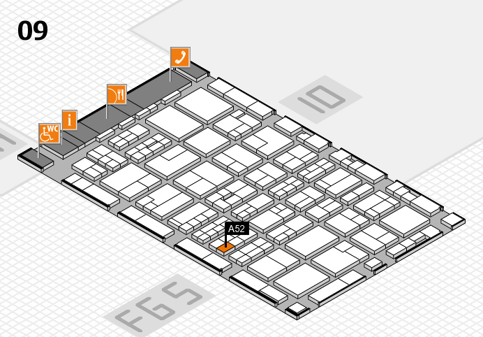 MEDICA 2016 hall map (Hall 9): stand A52