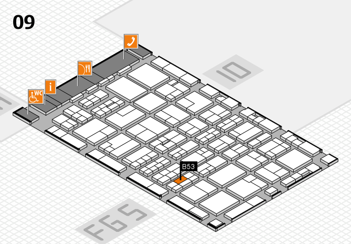 MEDICA 2016 hall map (Hall 9): stand B53