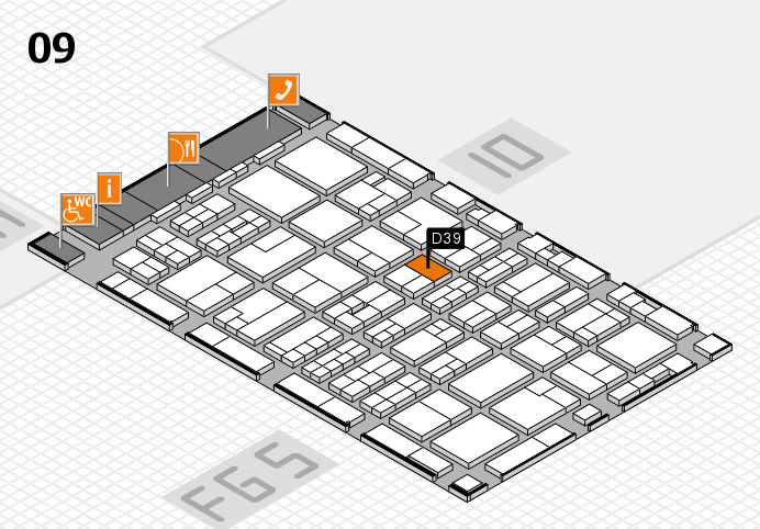 MEDICA 2016 hall map (Hall 9): stand D39