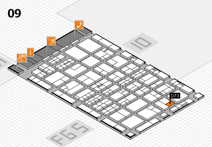 MEDICA 2016 hall map (Hall 9): stand D73