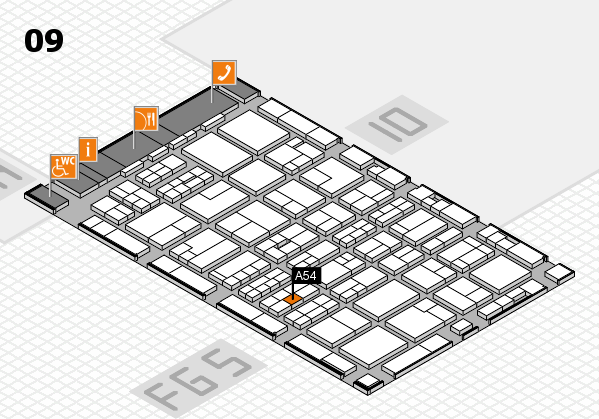 MEDICA 2016 hall map (Hall 9): stand A54