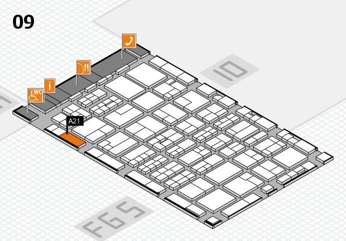 MEDICA 2016 hall map (Hall 9): stand A21
