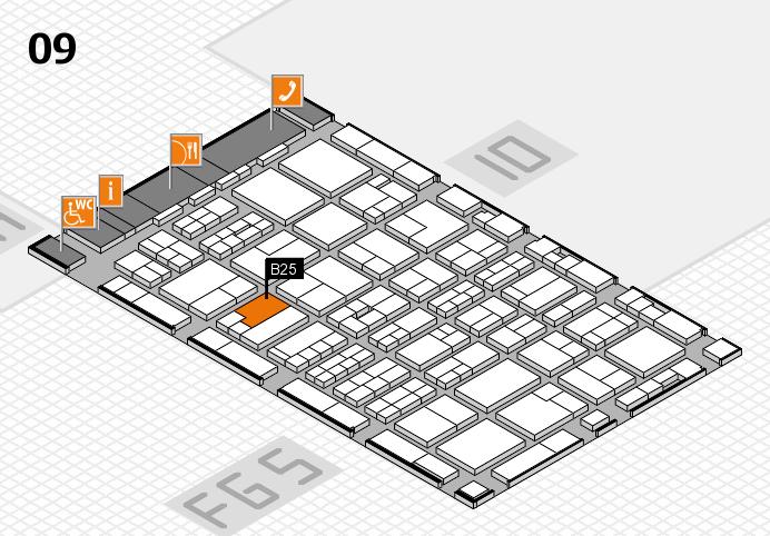 MEDICA 2016 hall map (Hall 9): stand B25