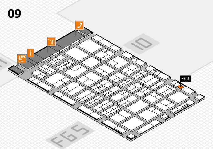 MEDICA 2016 hall map (Hall 9): stand E66