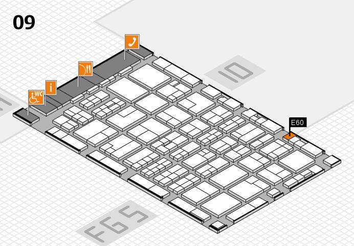 MEDICA 2016 hall map (Hall 9): stand E60