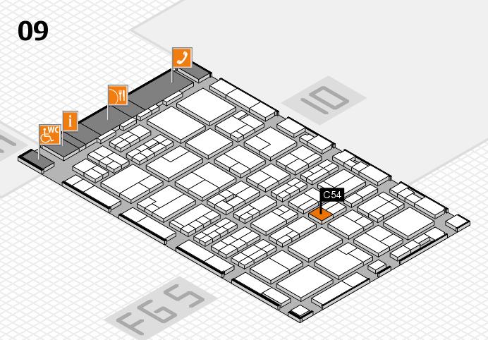 MEDICA 2016 hall map (Hall 9): stand C54