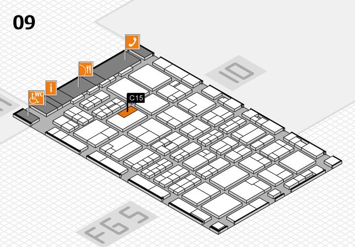 MEDICA 2016 hall map (Hall 9): stand C15