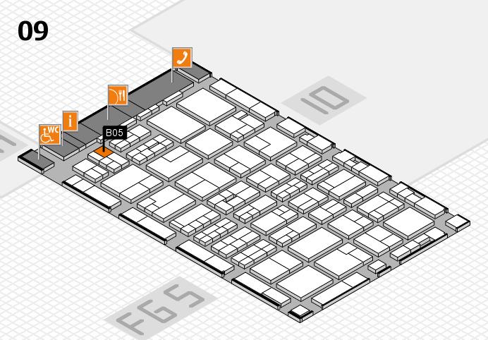 MEDICA 2016 hall map (Hall 9): stand B05