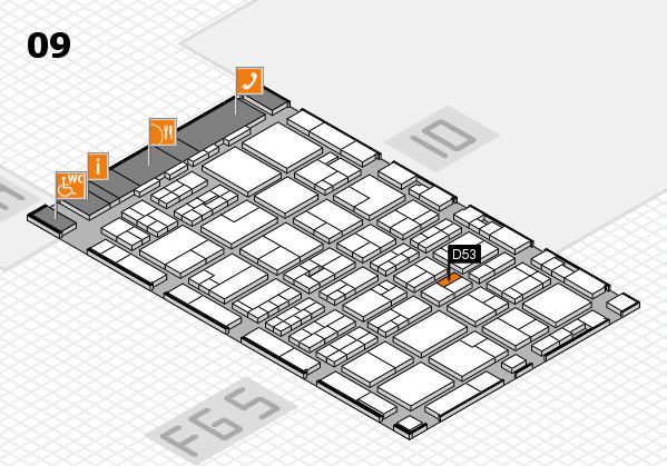 MEDICA 2016 hall map (Hall 9): stand D53