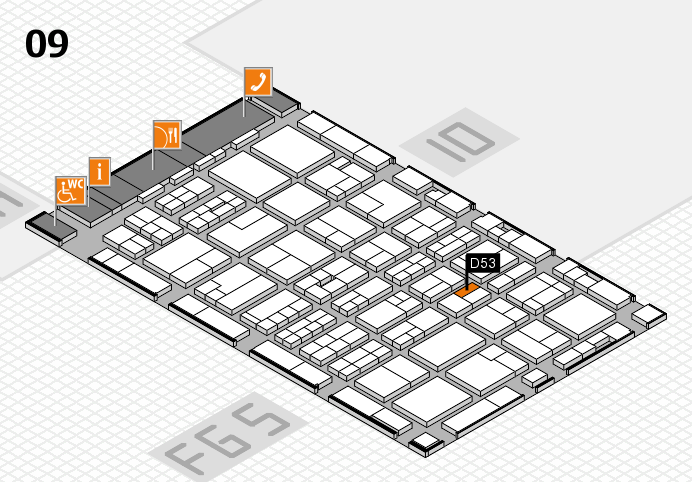 MEDICA 2016 hall map (Hall 9): stand D53