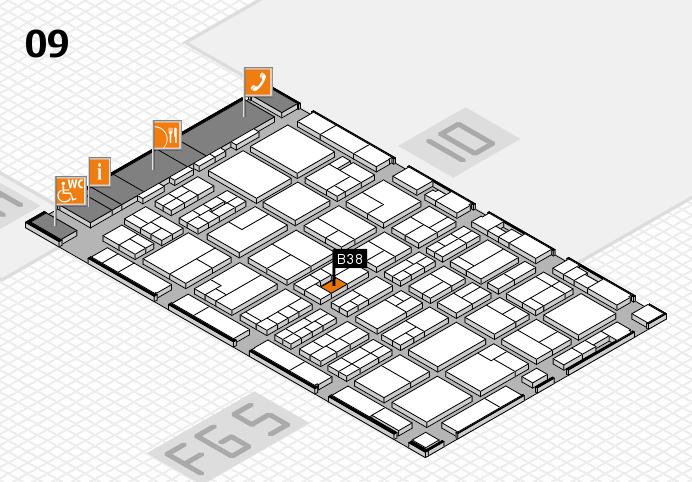 MEDICA 2016 hall map (Hall 9): stand B38
