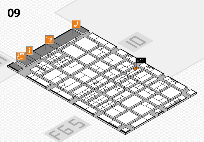 MEDICA 2016 Hallenplan (Halle 9): Stand E41