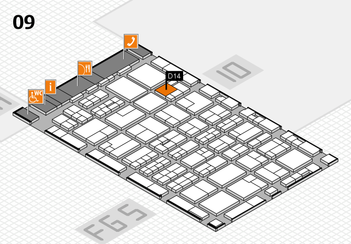 MEDICA 2016 hall map (Hall 9): stand D14