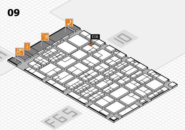 MEDICA 2016 hall map (Hall 9): stand E08