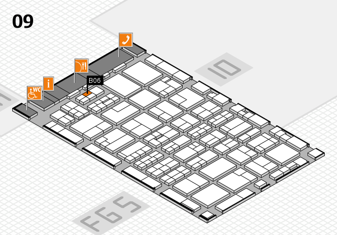 MEDICA 2016 hall map (Hall 9): stand B06