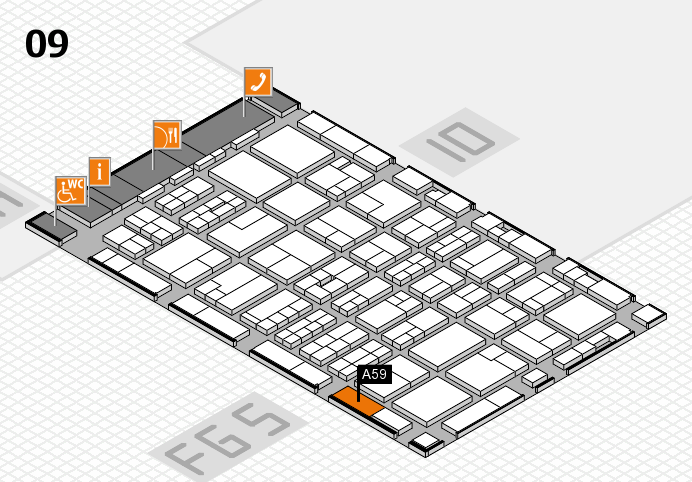 MEDICA 2016 hall map (Hall 9): stand A59