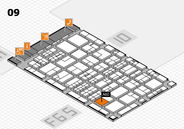 MEDICA 2016 hall map (Hall 9): stand A60