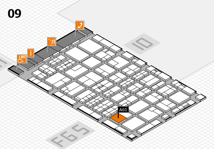 MEDICA 2016 hall map (Hall 9): stand A60