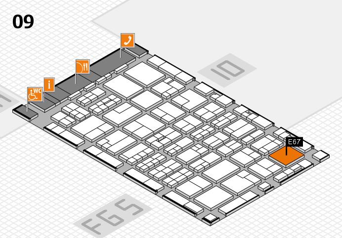 MEDICA 2016 hall map (Hall 9): stand E67