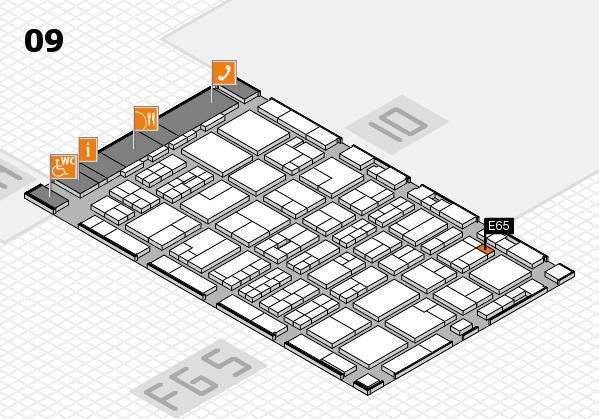 MEDICA 2016 hall map (Hall 9): stand E65