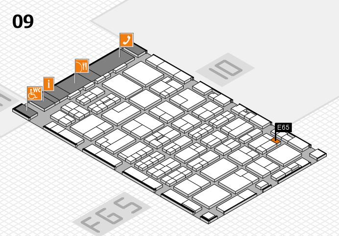 MEDICA 2016 Hallenplan (Halle 9): Stand E65