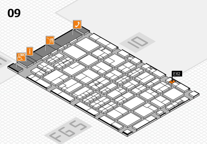 MEDICA 2016 hall map (Hall 9): stand E62