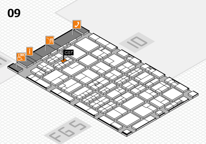MEDICA 2016 hall map (Hall 9): stand C07