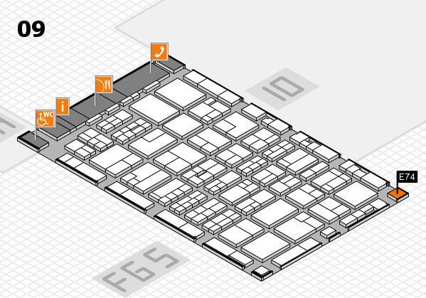 MEDICA 2016 hall map (Hall 9): stand E74