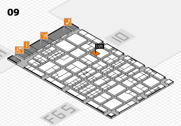 MEDICA 2016 hall map (Hall 9): stand D26