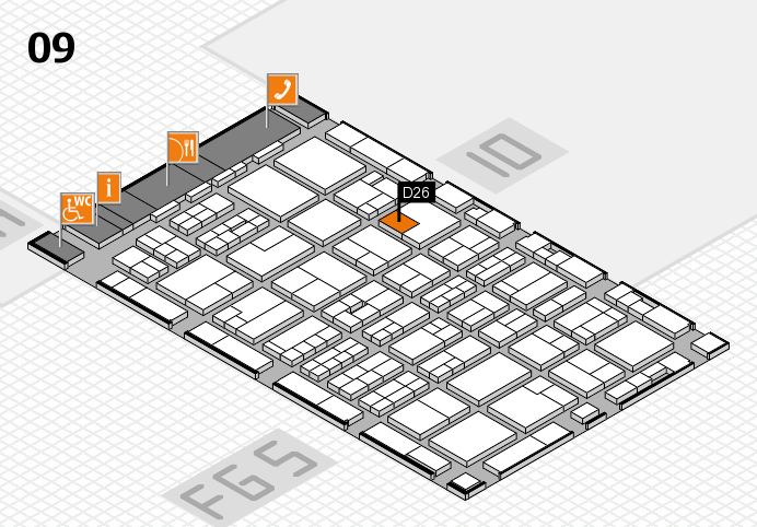 MEDICA 2016 hall map (Hall 9): stand D26