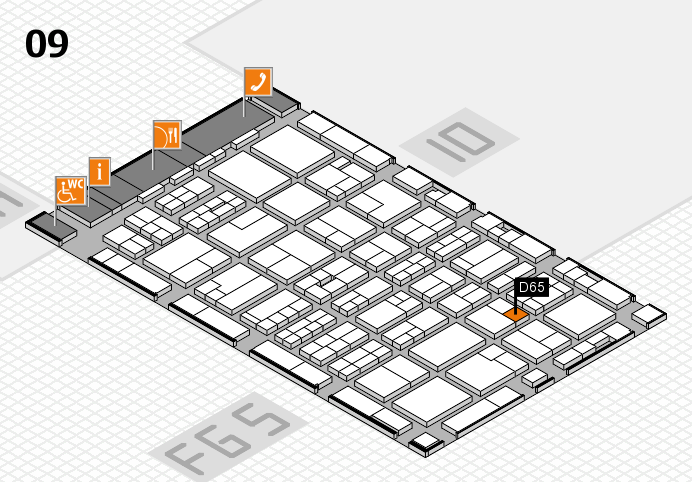 MEDICA 2016 hall map (Hall 9): stand D65