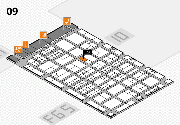 MEDICA 2016 hall map (Hall 9): stand C26