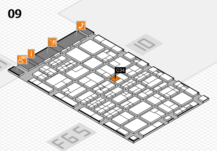 MEDICA 2016 hall map (Hall 9): stand C34