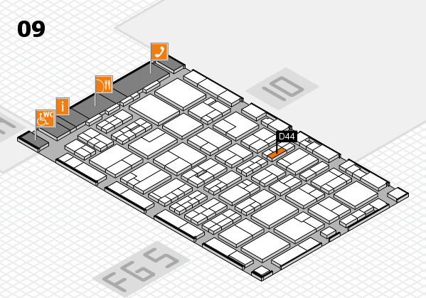 MEDICA 2016 hall map (Hall 9): stand D44