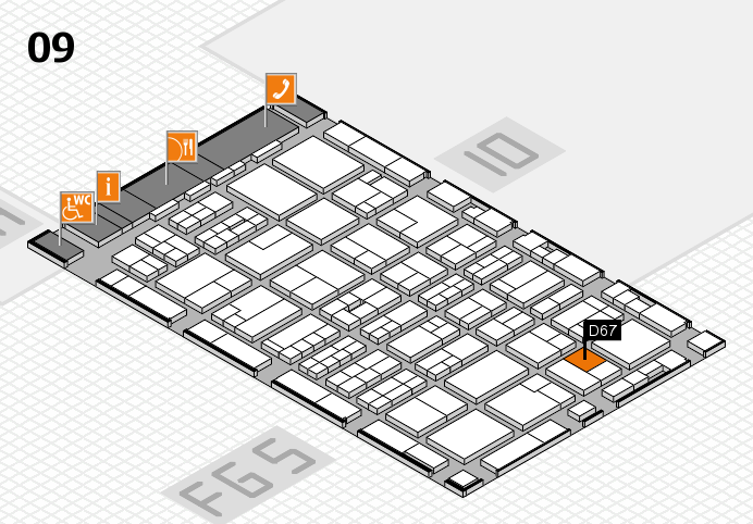 MEDICA 2016 hall map (Hall 9): stand D67