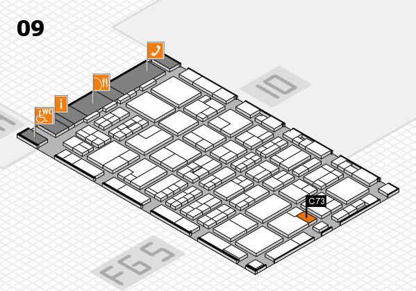 MEDICA 2016 hall map (Hall 9): stand C73