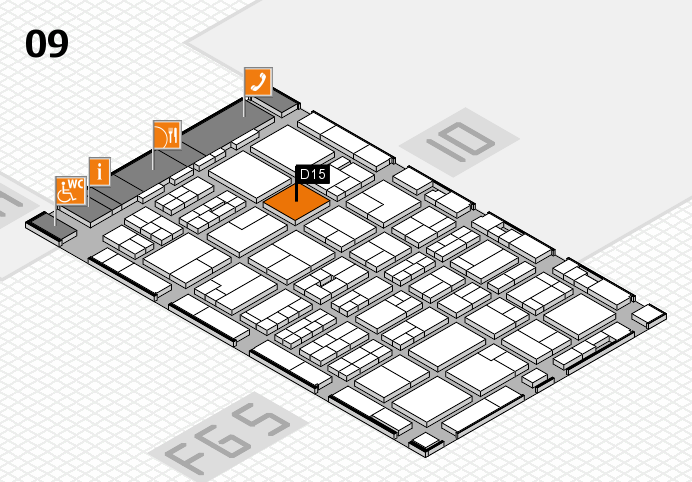 MEDICA 2016 hall map (Hall 9): stand D15