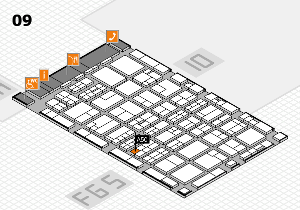MEDICA 2016 hall map (Hall 9): stand A50