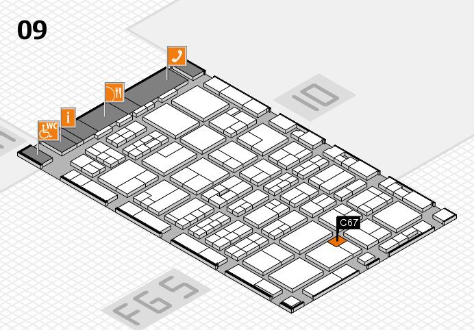 MEDICA 2016 hall map (Hall 9): stand C67