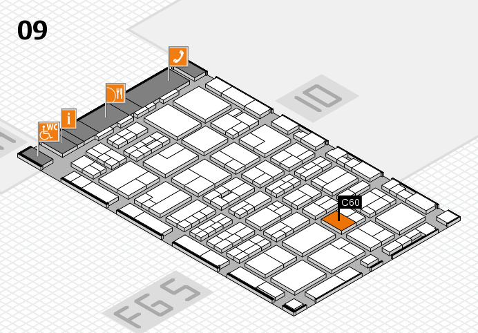 MEDICA 2016 hall map (Hall 9): stand C60