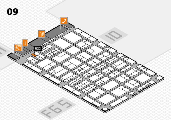 MEDICA 2016 hall map (Hall 9): stand B03