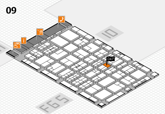 MEDICA 2016 hall map (Hall 9): stand D47