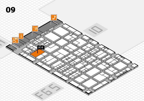 MEDICA 2016 hall map (Hall 9): stand A14