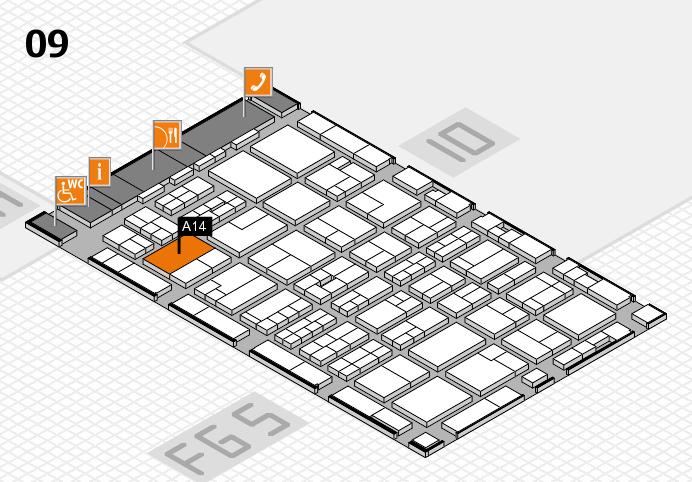 MEDICA 2016 Hallenplan (Halle 9): Stand A14