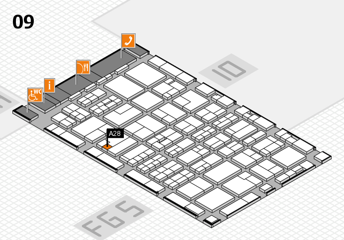 MEDICA 2016 hall map (Hall 9): stand A28