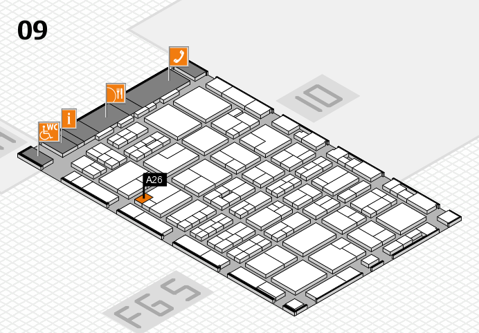 MEDICA 2016 hall map (Hall 9): stand A26