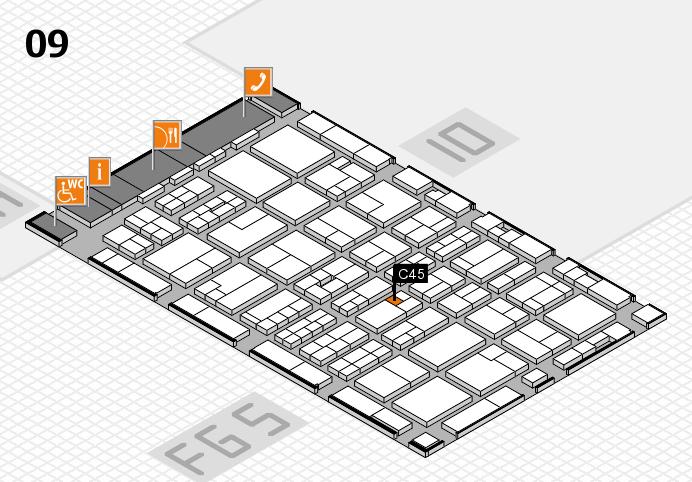 MEDICA 2016 hall map (Hall 9): stand C45